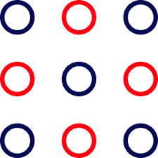 One classical example is where nine dots are arranged on the sides and the center of a square as in the picture below. Nine Dot Connects 9dot Puzzle Nine Dot Connects 9dot Ndc Ninedot 9dotconnects