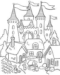Below are castle coloring book pictures to print so little ones can color them with crayons or colored pencils. My Little House Anna And The Flower Garden Coloring Pages Elsa Coloring Pages Castle Coloring Page Princess Coloring Pages
