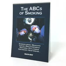 The Abcs Of Smoking Educational Flip Chart Health Edco