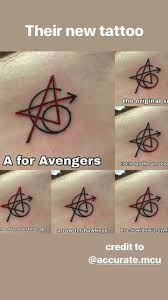 Avengers Tattoos Robert Downey Jr Chris Hemsworth Scarlett