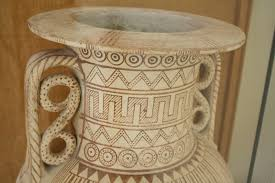 Grecian Pottery Designs Geometric Pottery Designs Illustration Ancient History