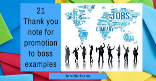 Thank You Message To Boss 21 Thank You Note For A Promotion To Boss Examples