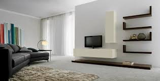 minimalist living room furniture. Fascinating Expensive Looking Minimalist Living Room Furniture With Floating Shelf Brown White Color Theme Tiger Fluffy L