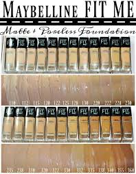 Maybelline Foundation Color Chart 7 Based On These Swatches Which Are Not My Pics It Looks