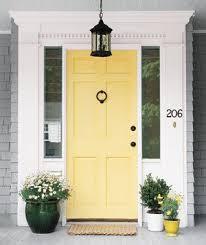 colored front doorsYellow Front Door  Home Interior Design