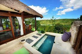 Looking over the ever-changing channel that sweeps between Bali's exotic  islands  Nusa Lembongan and Nusa Ceningan, Twin Island Villas offers a  unique ...