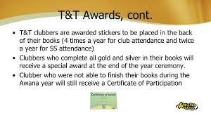 Awana Certificate Of Award Ppt Welcome Powerpoint Presentation Id 6181408