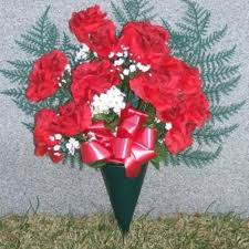 <b>Silk Rose Bouquet</b> - Red - Arlington Cemetery & Toppitzer Funeral ...