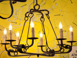 our exclusive design the fayette chandelier is constructed of hand forged iron and made