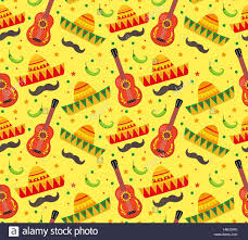 Mexican Pattern Delectable Cinco De Mayo Seamless Pattern Mexican Holiday Endless Background