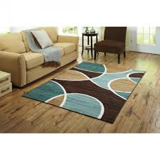 amazing turquoise and brown area rugs in royal collection blue abstract contemporary design