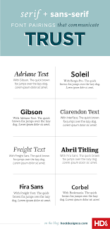 8 fresh font pairings that will make your audience trust you perfect for resumes pitches or corporate materials font pairings communicate trust by using