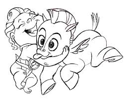 Baby Hercules And Baby Pegasus Coloring Pages Bulk Color