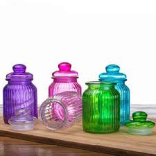 Decorative Glass Candy Jars China Glass Candy Jar Manufacturer Home Decoration Glass Jar 95