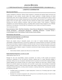Logistics Coordinator Resume Samples