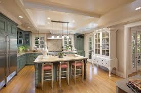 kitchen with table for six, white craftsman ceiling with long light
