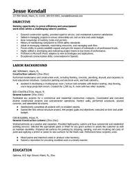 Resume Objective Examples For Construction Best Of General Labor Resume Sample Resume Tips Pinterest Labour And