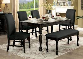 gray dining room table. Siobhan II Dark Gray Dining Table,Furniture Of America Room Table 1