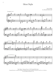 sheet music silent night silent night piano marshall mcdonald