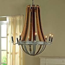 wine barrel chandelier lighting creations