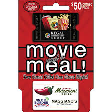 Brinker Regal Movie And A Meal Gift Card Combo Pack