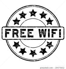 Grunge Black Free Wifi With Signal Icon Seal Stamp 插圖素材28475652
