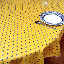 yellow table cloths french tablecloth with acrylic coating blue and design light round plastic tablecloths