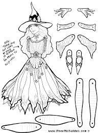 Small Picture Scary Halloween Mask Coloring Pages Marcella Witch Puppet www