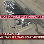 Arizona jet crash: Pilot ejects from military plane in Lake Havasu