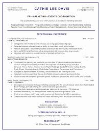 Special Event Planner Resume Sample Beautiful Event Planning Resume
