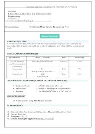 Resume Format Free Download Mazard Info