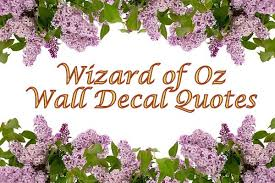 funky graphics and wall words with wizard of oz wall decals