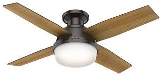 Hunter Fan Replacement Light Bulbs Dempsey Low Profile With Light 44 Inch Ceiling Fan Hunter Fan