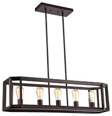 ironclad industrial style 5 light rubbed bronze ceiling pendant 34 wide