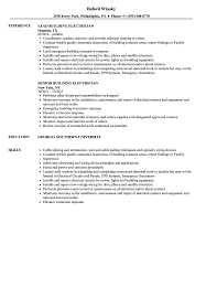 Sample Of Electrician Resumes Building Electrician Resume Samples Velvet Jobs