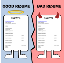 good and bad cvs. good vs bad resume ...