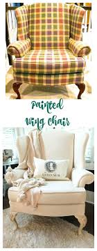 Painting the fabric gives upholstery a new and updated look