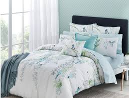 Designer Quilt Covers Japanese Wisteria Quilt Cover White Teal In 2019 Quilt