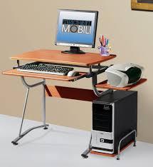 Slim Computer Desk Furniture Minimalist Computer Desk With Half Oval Shape Made