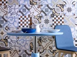 hand painted cement tile