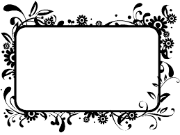 flowers borders clipart black and white