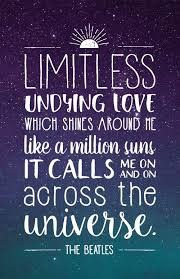 The Beatles Quotes Magnificent Beatles Lyrics Quote Poster Across The Universe For The Home