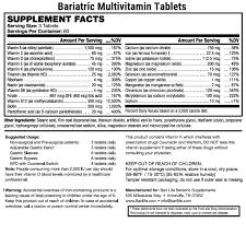 Iu Health Doctors Note Bariatric Multivitamin Tablets Bari Life