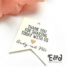 thank you tags for wedding favors wedding favor labels template