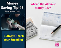 track your spending money saving tip 3 always track your spending i am so a mom