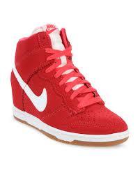 nike wedge sneakers. nike dunk sky hi-top wedge sneakers red