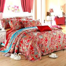 paisley sheets bedding sets queen red comforter party bohemian style fashion and luxury exotic tribal bed paisley sheets