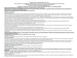 Accounting Manager Resume Template Randy Reed Controller Accounting
