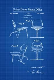 eames furniture design. Eames Chair Patent Print - Patent, Furniture Blueprint, Blueprint Design