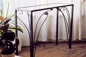 iron console table. Contemporary Wrought Iron Console Table